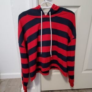 Jcpenney-Arizona Jean Co-Striped cropped hoodie
